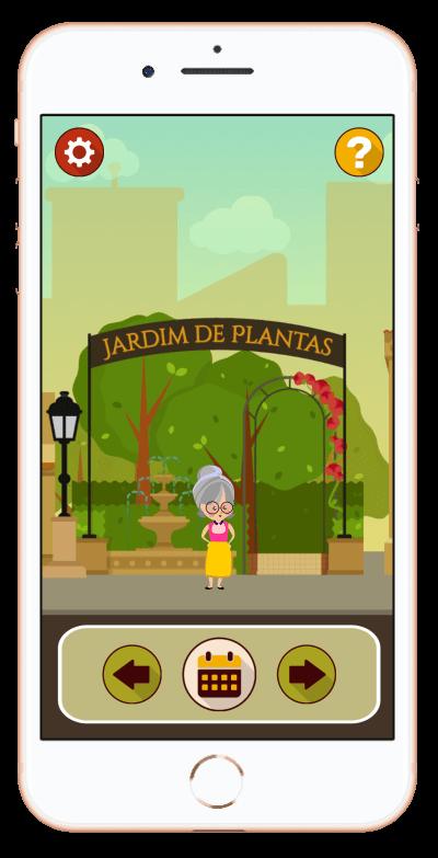 Imagem da tela de início do Aplicativo